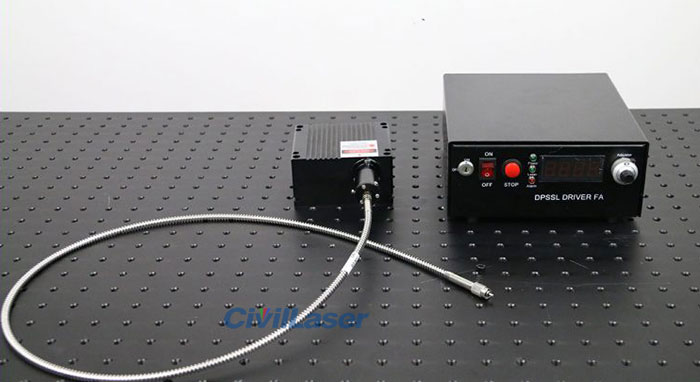 685nm 10W Most Powerful Red Fiber Coupled Laser Strong Laser Beam