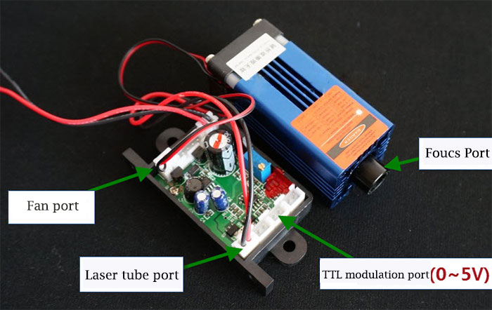 200mW 660nm Red Laser module with TTL modulation 12V dot/line/crosshair