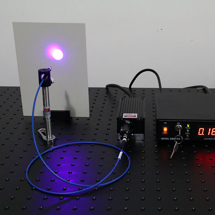 405nm 600mW Blue-Violet Fiber Coupled Laser With Power Supply