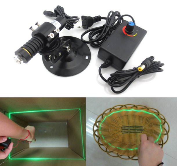 520nm 50mw green line laser module 360° Full range of 520nm Adjustable thickness