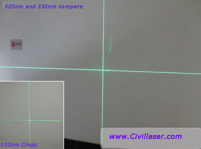 520nm 50mw/85mw Green laser module Crosshair--The world's first