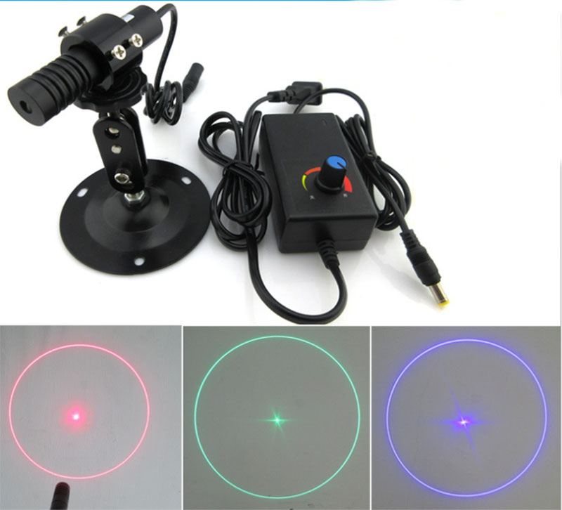 Circle laser with center point effect Red/Green/Blue Effect can be customized