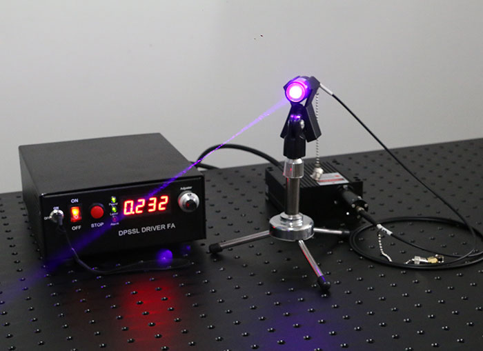 405nm 1200mW Fiber Coupled Laser Blue-Violet Laser Source