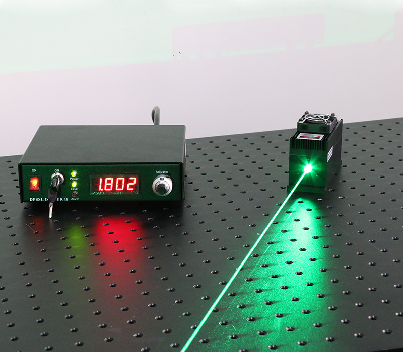 505nm 300mW Solid State Laser Green Laser Beam