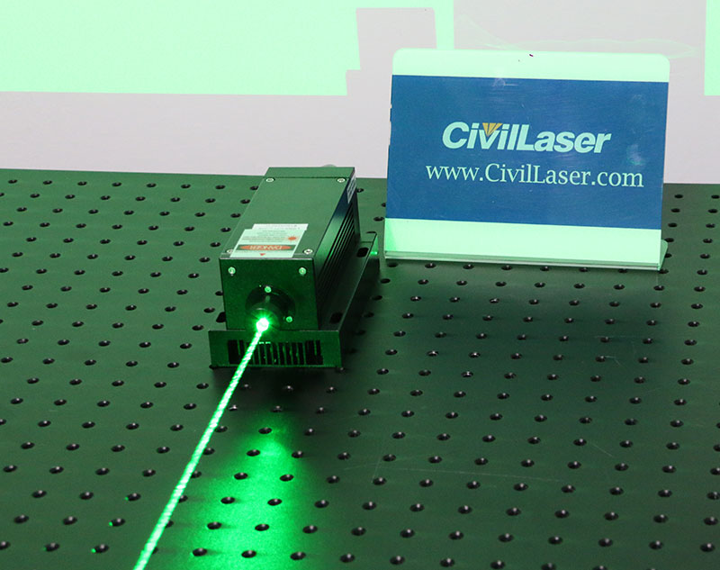 532nm 600mW~700mW green dpss with TTL modulation high quality solid state laser