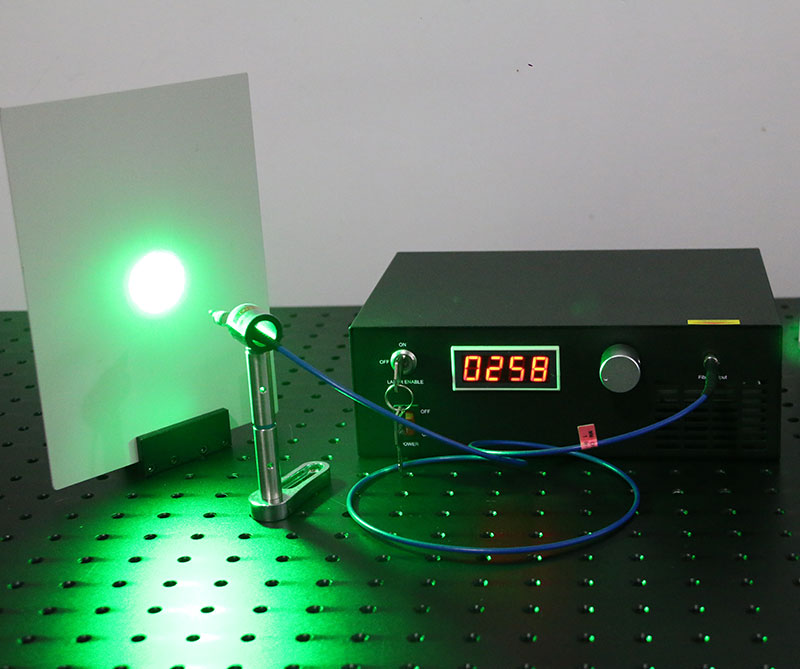 532nm 500mw Green Fiber Coupled Raman Laser 0.1nm Narrow Linewidth