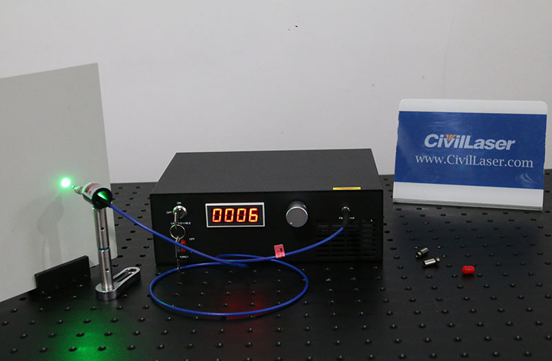 532nm 1~50mW 0.3nm Linewidth Green Laser System All-in-one Type