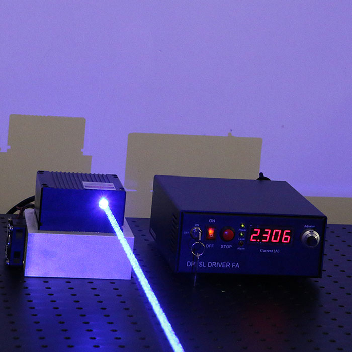 465nm 4.5W Blue DPSS Laser with power driver (From CivilLaser)