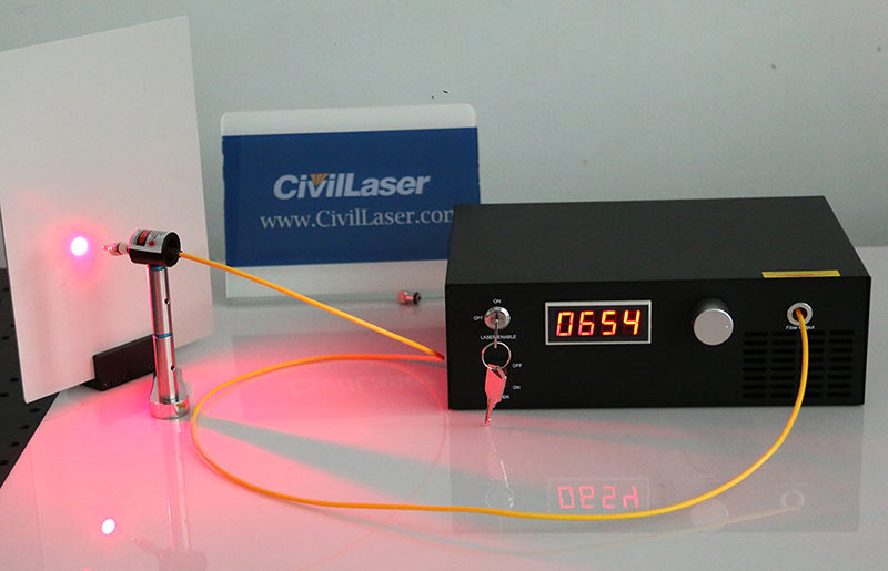 635nm 1300mW Fiber Coupled Laser All-in-one Type