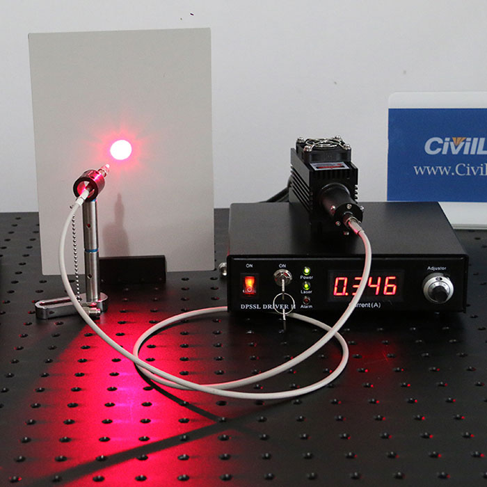 635nm±1nm 200mW Red Fiber Coupled Laser Lab Laser System