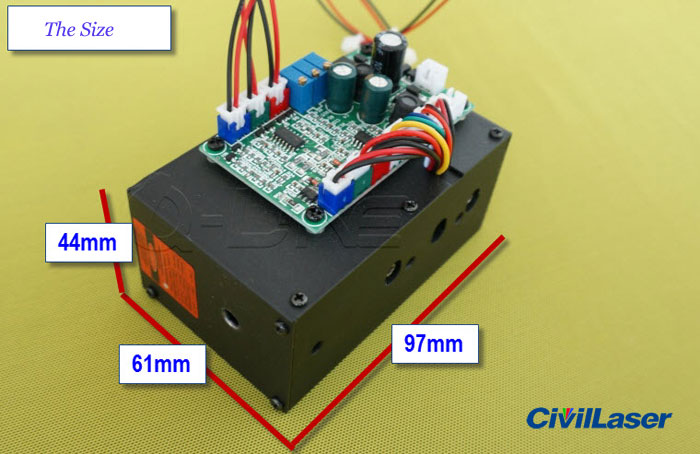 400mw~500mw White laser module RGB laser beam compose the white laser -- with TTL modulation