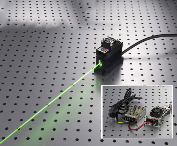 520nm 10mw~ 100mw Green Semiconductor laser with power supply