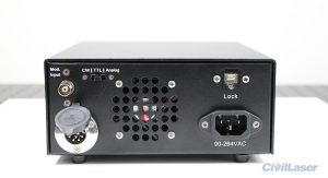 laser system with cw mode and ttl modulation